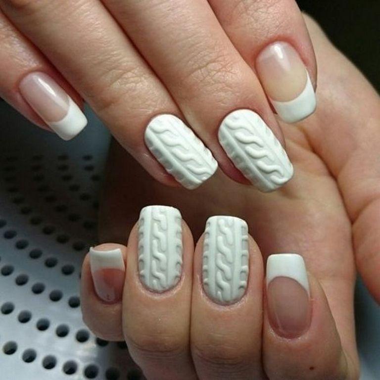 Вязаные ногти - зимний дизайн