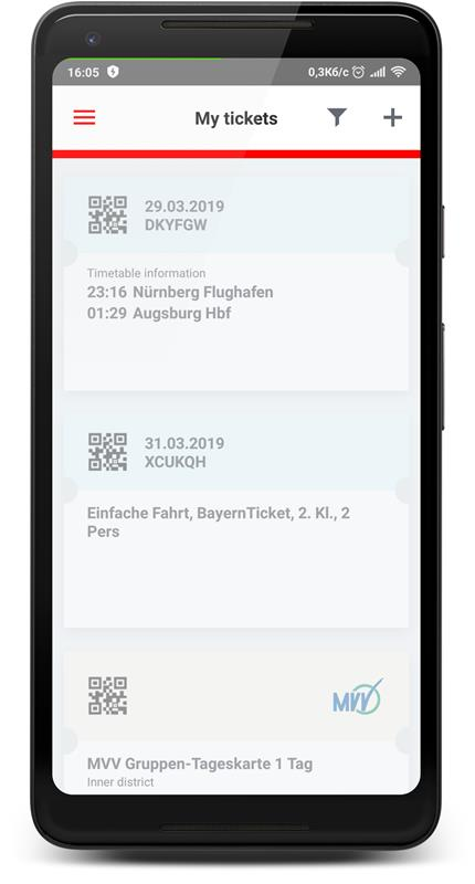 Онлайн билет - MVV Gruppen Tageskarte 1 Tag