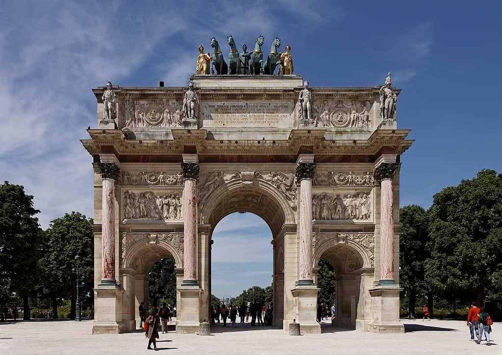Триумфальная арка на площади Каррузель (Arc de Triomphe du Carrousel)