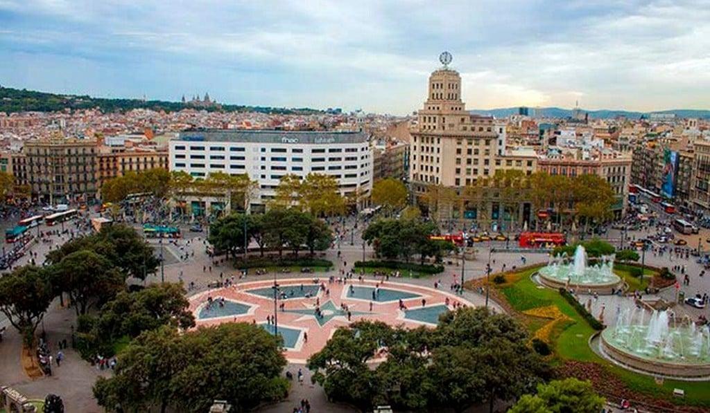 Пласа-де-Каталунья (Площадь Каталонии), Барселона самостоятельно