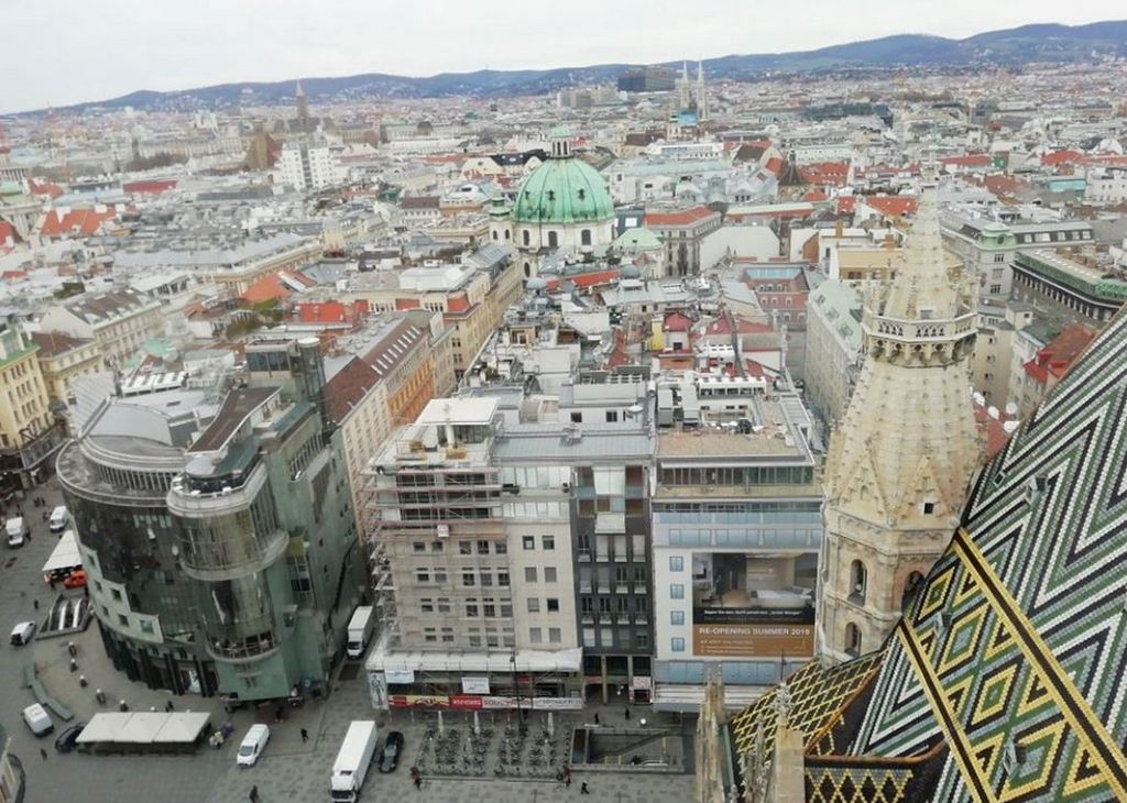 Вид на город с Южной башни, Вена - Австрия