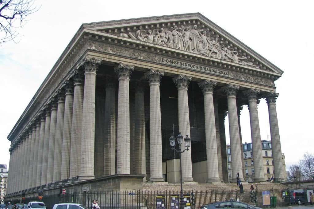 Церковь Мадлен (l'église de la Madeleine), Париж - интересные достопримечательности