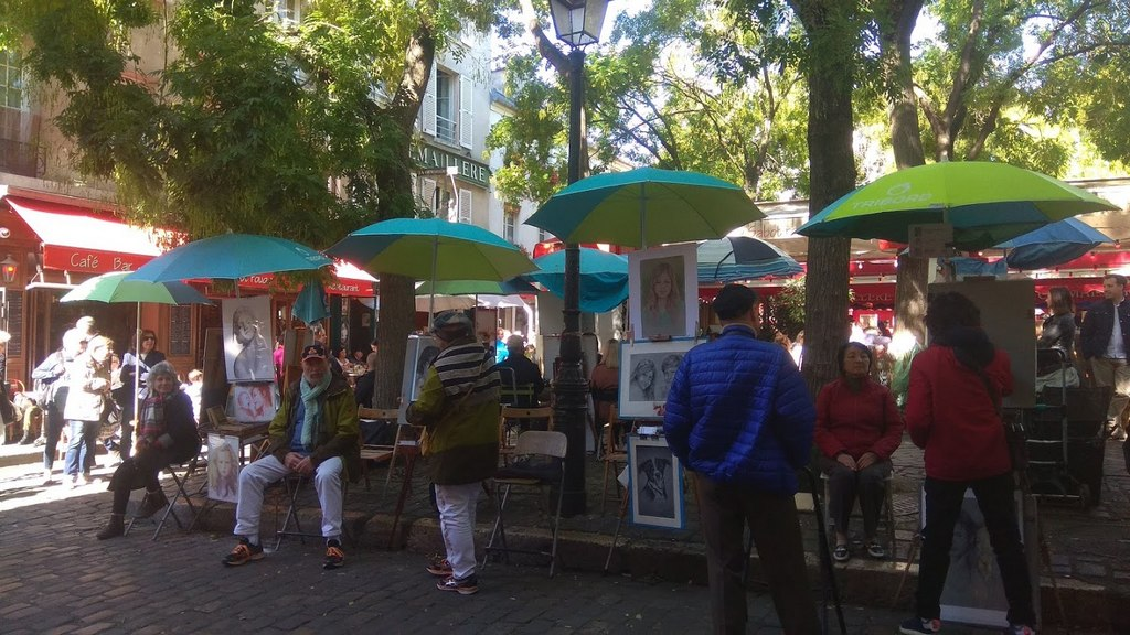 Монмартр (Montmartre) – Площадь Тертр (Place du Tertre), Париж - интересные достопримечательности
