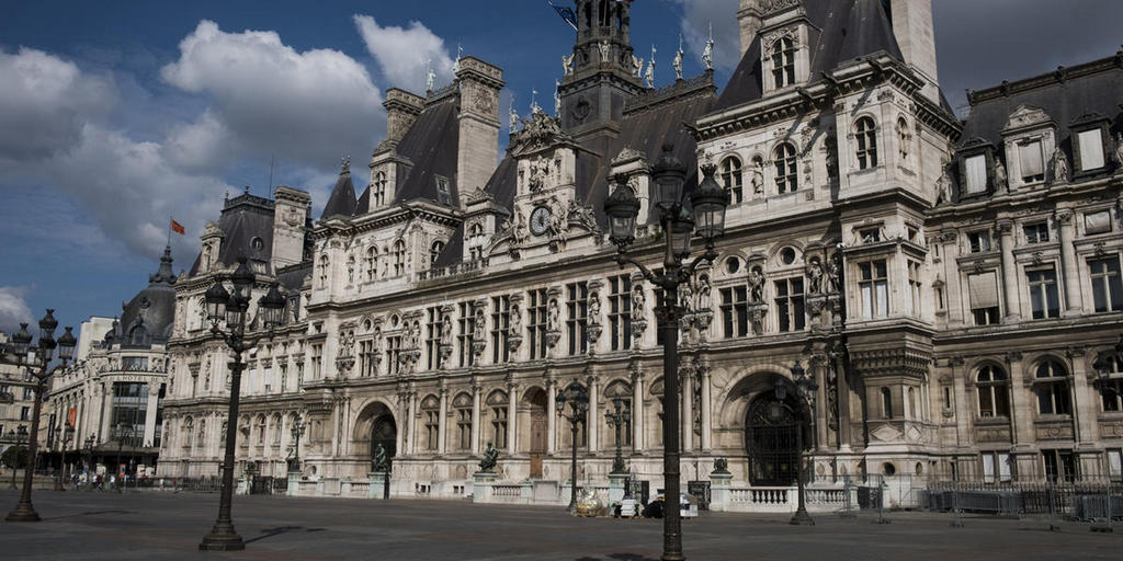 Парижская мэрия (hôtel de ville de Paris), Париж - интересные достопримечательности