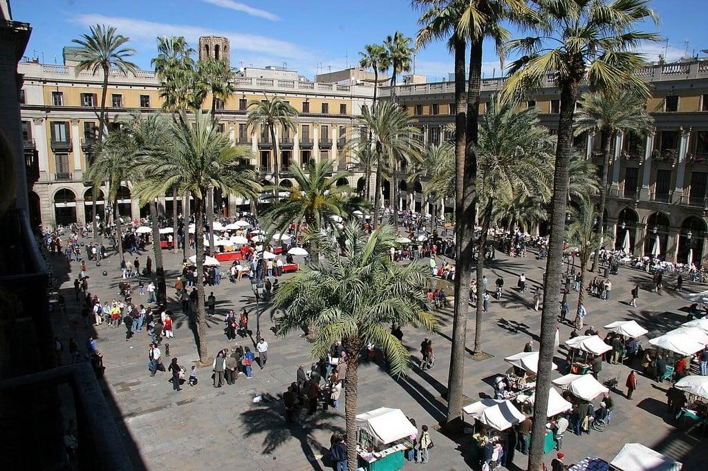 Королевская площадь, Барселона самостоятельно