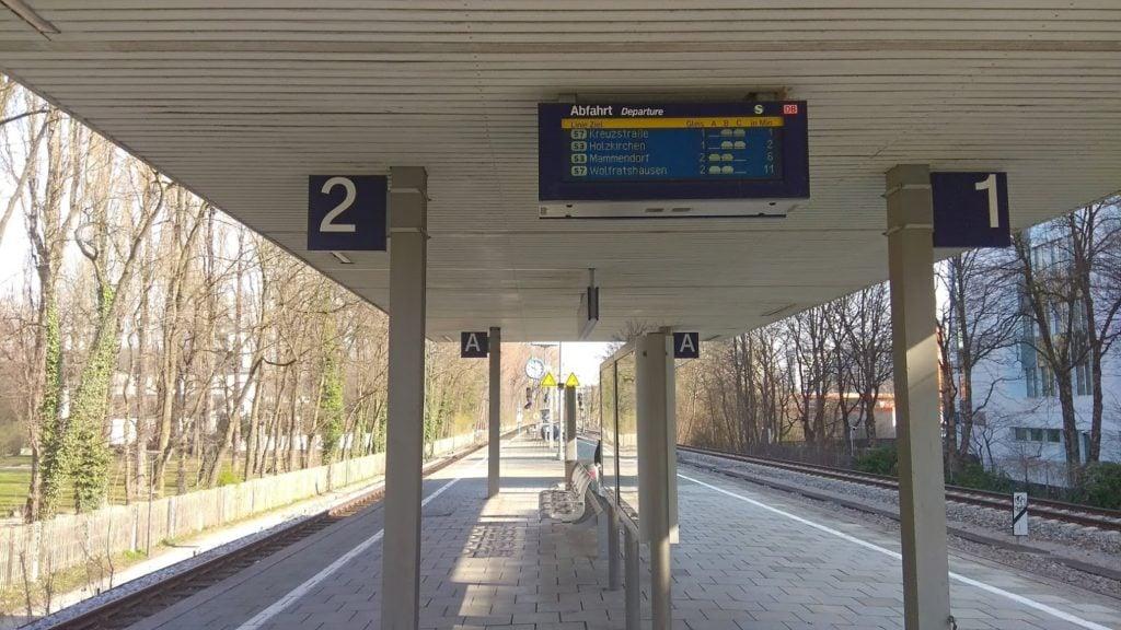 Перрон S - Bahn, Мюнхен
