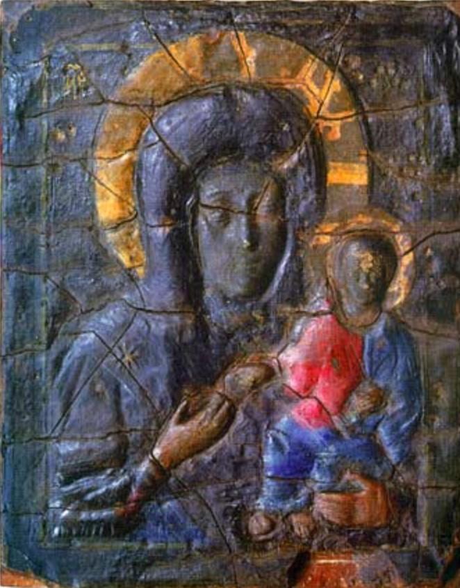 Строгановский список Влахернской иконы Богоматери (Третьяковская галерея)