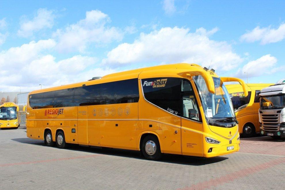 RegioJet, Путешествие на автобусе по Европе