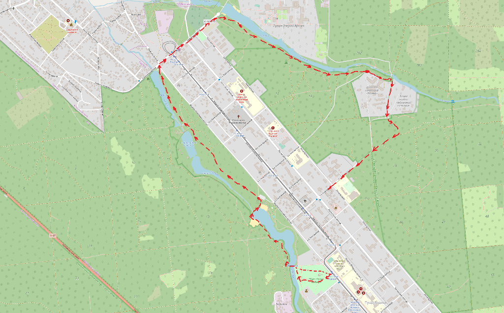 пешеходный маршрут вокруг Пущи