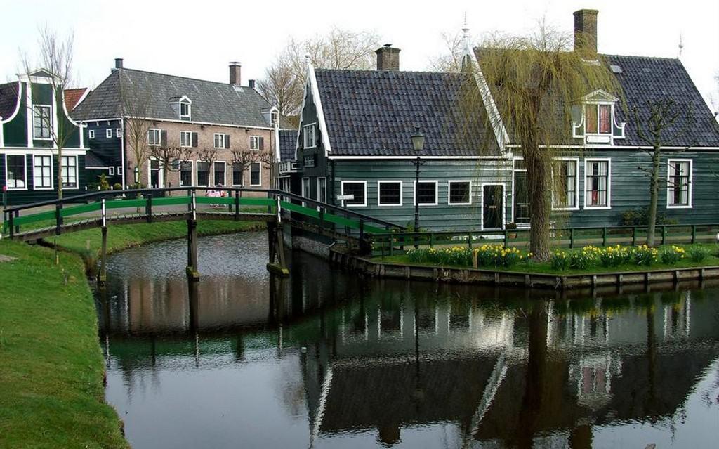 Деревня Заансе Сханс (Zaanse Schans) Нидерланды